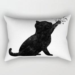 Poetic cat Rectangular Pillow