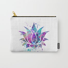 Lotus Flower Watercolor Print Wall Art Wedding Gift Zen decor Carry-All Pouch