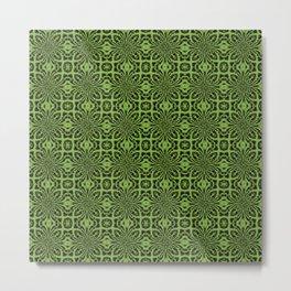 Greenery Geometric Floral Abstract Metal Print