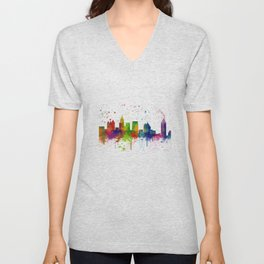 Atlanta Skyline Unisex V-Neck