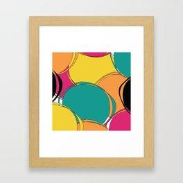 Abstract Circls Framed Art Print