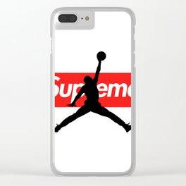 Jordan Jumpman Supreme Clear iPhone Case
