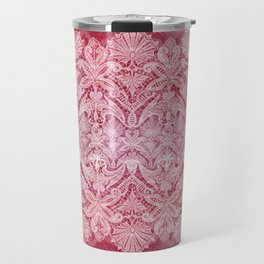 ABERDEEN HEIRLOOM, LACE & DAMASK: REBECCA'S RED Travel Mug