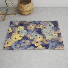 Floral Mauve-Blue-Yellow Rug