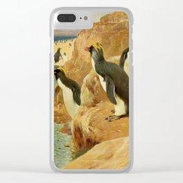 Kuhnert, Friedrich Wilhelm (1865-1926) - Wild Life of the World 1916 v.3 (Rock Penguin) Clear iPhone Case