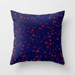 Terrazzo memphis blue galaxy orange Throw Pillow