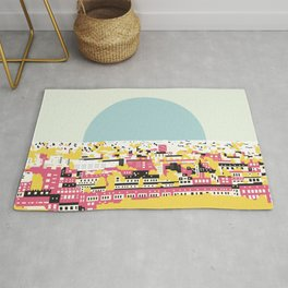 Rooftop view Rug