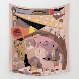 Pizza Seeking Traveler Wall Tapestry