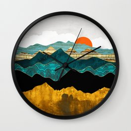 Turquoise Vista Wall Clock