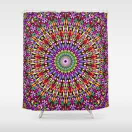 Petal Burst Mandala Shower Curtain