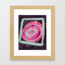 Abstract Green Pink Framed Art Print