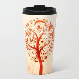 Watercolor music tree Travel Mug