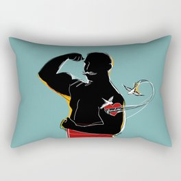 The mustache Rectangular Pillow