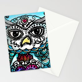 Day of the Dead Owl Stationery Cards