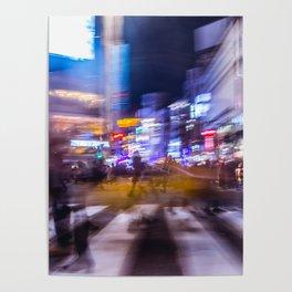 Blurred motion at Shibuyacrossing Poster