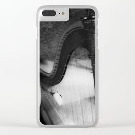 The harp waiting to be played Clear iPhone Case