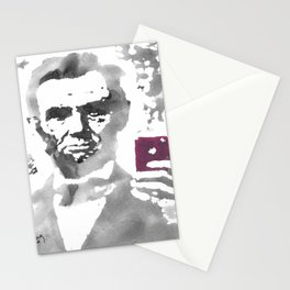 """""""Abe Takes A Selfie"""" Stationery Cards"""