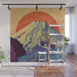 The Red Sunrise at Dayai Shore Wall Mural