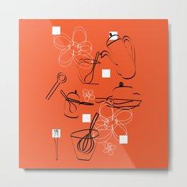 batuque na cozinha 1 (drumming in the kitchen) Metal Print