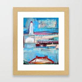 """""""Lighthouse"""" by Simon Brushfield Framed Art Print"""