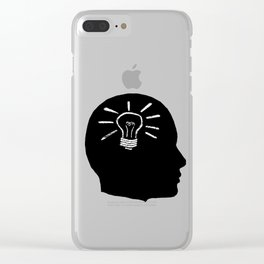 Lightbulb Moment Clear iPhone Case