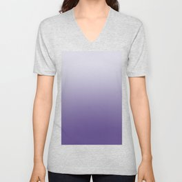 Ombre Ultra Violet Gradient Motif Unisex V-Neck