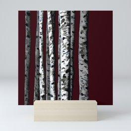 Birch Tree Forest Mini Art Print