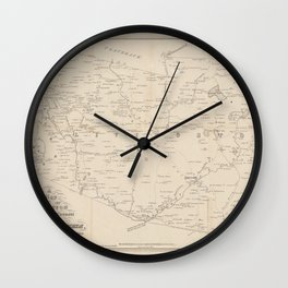 A map of the towns of Livingston, Germantown, and Clermont in the County of Columbia Wall Clock