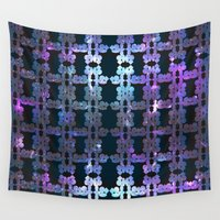 shining Wall Tapestries featuring Shining Shapes by Nahal