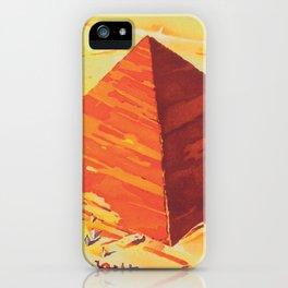 Egypt, Great Pyramids, Retro Vintage Travel Poster iPhone Case
