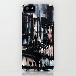 City Scape at Dusk iPhone Case