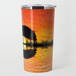 guitar island sunset Travel Mug