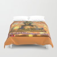 meditation Duvet Covers featuring Meditation by Paola Canti