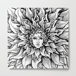 Apollo Sun God Black and white Metal Print