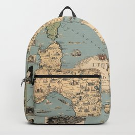 1935 Vintage Map of Italy and Vatican City Backpack