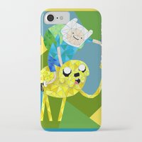 finn and jake iPhone & iPod Cases featuring Jake and Finn by victorygarlic - Niki