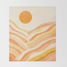 Golden Mountain Sunset Throw Blanket