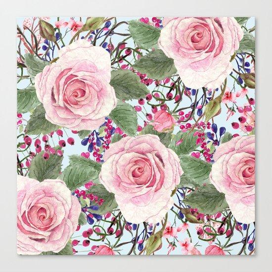 Watercolor Roses #2 Canvas Print