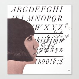The Garamond girl Canvas Print
