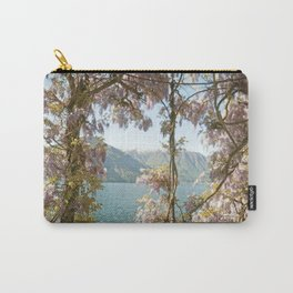 Lavender Wisteria Flowers and Mountains Carry-All Pouch
