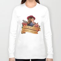 agent carter Long Sleeve T-shirts featuring Agent Carter Vintage Tattoo Dark by Bonnie Detwiller
