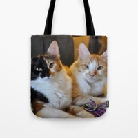 whisky Tote Bags featuring Whisky and Gypsy - Rescued by talonJstudios