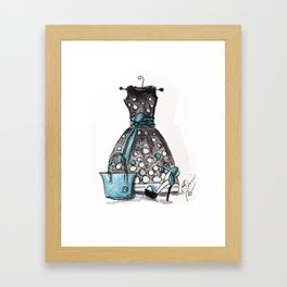 Dots and Shoes Fashion Watercolor Framed Art Print