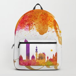 Cairo Skyline Egypt Watercolor cityscape Backpack