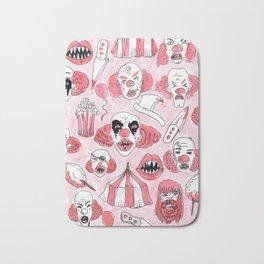 halloween clown pattern Bath Mat