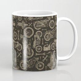 Dark Vintage Motorcycle Pattern Coffee Mug