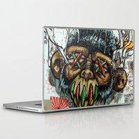 ape Laptop & iPad Skins featuring Ape Shrunkhead by Reboot