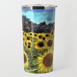 Sunflower Field Vincent Van Goth Travel Mug
