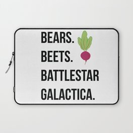 Bears Beets Battlestar Galactica Laptop Sleeve