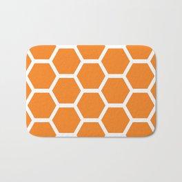 Orange Honeycomb Bath Mat